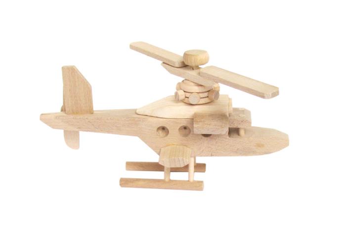 Helikopter zabawka drewniana