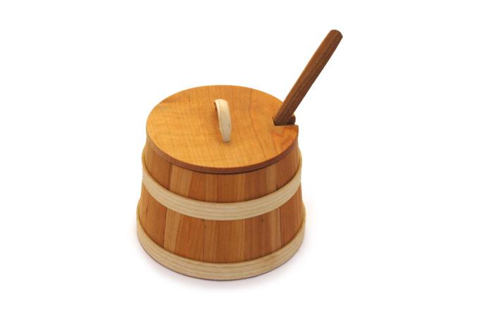 Skopek drewniany olejowany kpl dwa