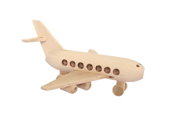 Boeing zabawka drewniana