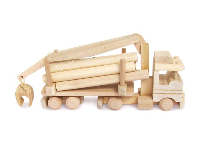 Ciezarowka z drewnem zabawka drewniana