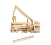 Ciezarowka z drewnem zabawka drewniana dwa