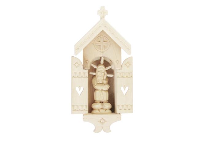 Kapliczka otwierana drewniana