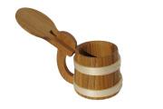 Kufel drewniany debowy sredni dwa