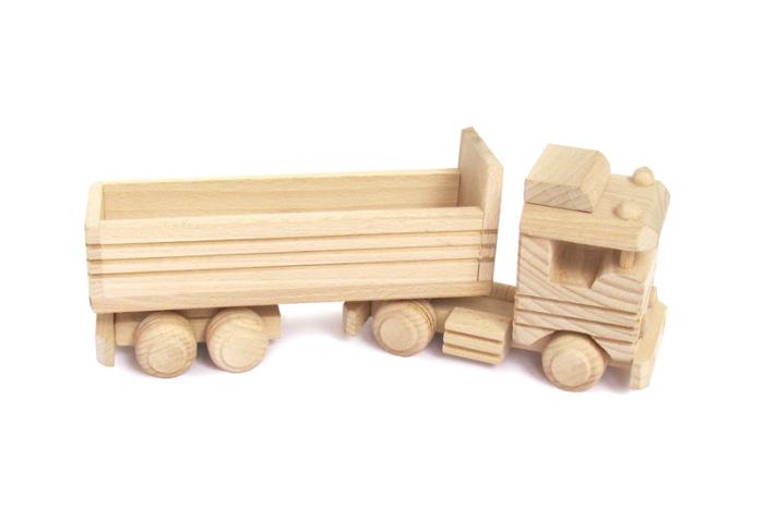 Tir zabawka drewniana