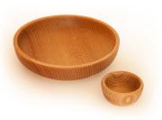 Miski drewniane bukowe dwie