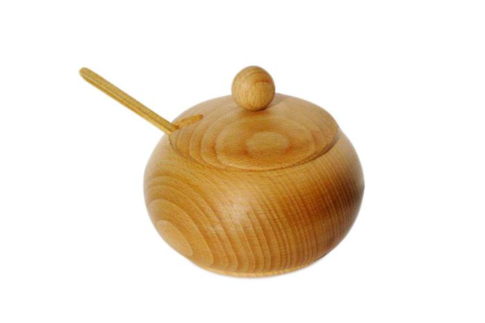 Cukiernica z drewna bukowego