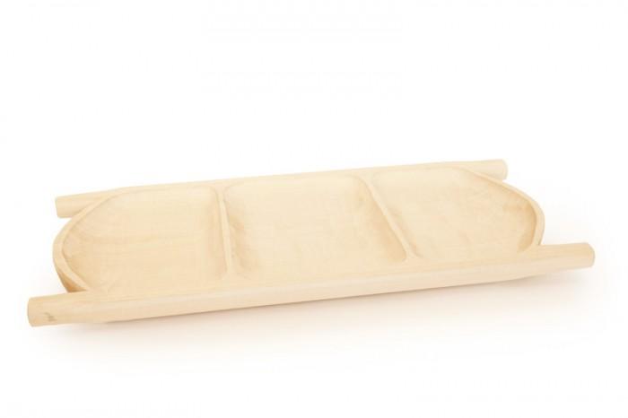 Koryto drewniane potrojnie dzielone