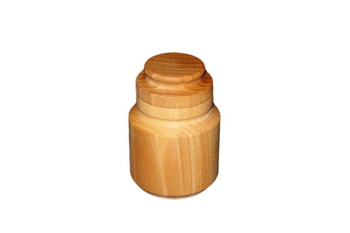 Pojemnik na przyprawy drewniany