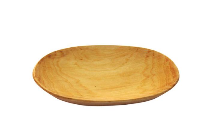 Taca drewniana z czeresni owalna