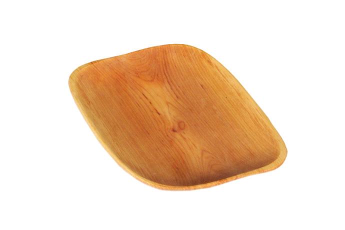 Taca drewniana z czeresni romb