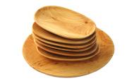 Tace drewniane z czeresni owalne kpl  siedem b