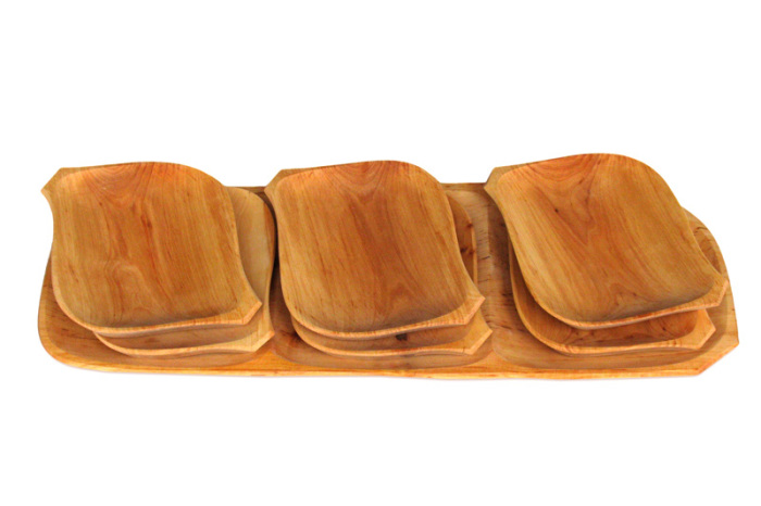 Tace drewniane z czeresni romby dwa kpl siedem
