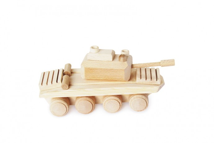 Czolg zabawka drewniana