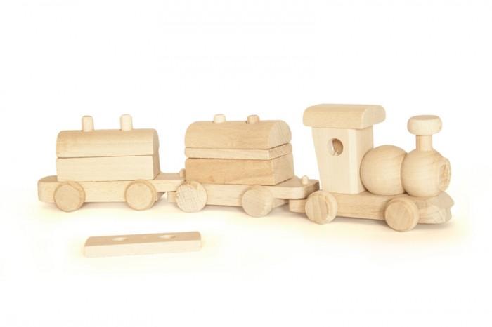 Pociag zabawka drewniana