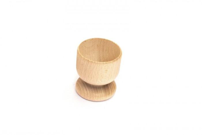 Kieliszek na jajko z drewna