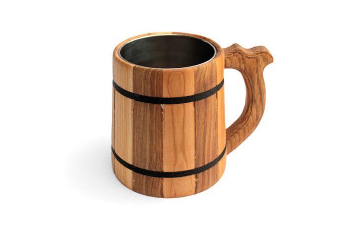 kufel drewniany wklad